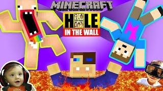 getlinkyoutube.com-MINECRAFT Hole in the Wall MINI-GAME! w/ FGTEEV Shawn, Duddy & Chase (SUPER CHALLENGE)
