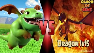 getlinkyoutube.com-มังกรน้อยมังกรใหญ่ - Clash of Clans - Mini Dragon Co-op Dragon