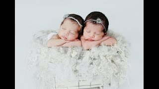 Newborn Twin Girls Photographed in Studio by Ana Brandt