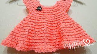 getlinkyoutube.com-Vestido Crochet 0-3 meses Durazno y cualquier talla parte 1 de 2