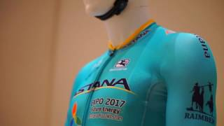 2017 Astana: New Argon18 bike and new Giordana cycling clothing.