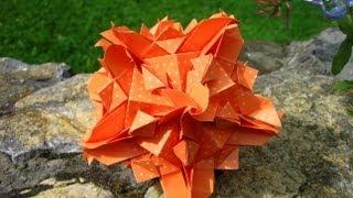getlinkyoutube.com-Origami ❉ Juliette ❉ Kusudama variation
