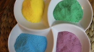 getlinkyoutube.com-طريقة عمل السكر الملون في البيت بطريقة سهلة Easiest , mess free way to make colored sugar