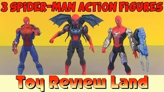 getlinkyoutube.com-3 Amazing Spider-Man 2 Spider Strike Action Figures from Marvel and Hasbro!