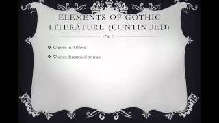 Introduction to Gothic Literature width=