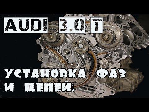 Audi 3.0T. Установка фаз ГРМ и цепей.