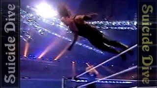 getlinkyoutube.com-Undertaker Top 10 - Suicide dive (Most dangerous dives)