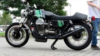 getlinkyoutube.com-Moto Guzzi 750 S 3; Baujahr: 1975; Kaltstart - Cold starting -