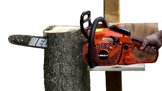 getlinkyoutube.com-Gravity Does The Work With This VERTICAL Chainsaw Mill
