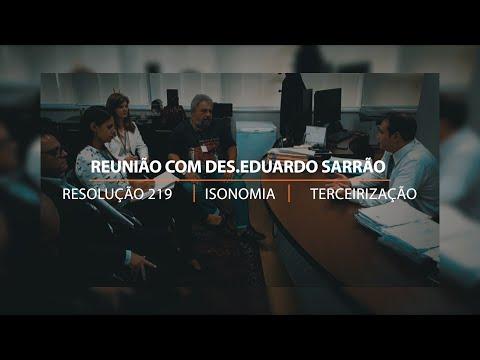 Sindijus-PR se reúne com desembargador Eduardo Sarrão e com Ouvidora-Geral, desembargadora Ana Lúcia