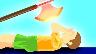 getlinkyoutube.com-EXPERIMENT Glowing 1000 degree KNIFE vs KID! (Happy Wheels)