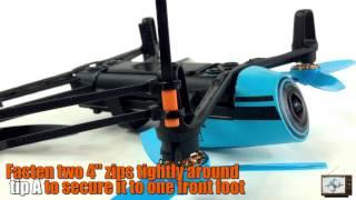 getlinkyoutube.com-Zip Tie Mod Landing Gear Installation Tutorial - Parrot Bebop Drone Episode 46