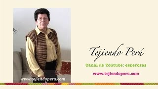 getlinkyoutube.com-Chaleco recto tejido en dos agujas o palillos