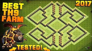 getlinkyoutube.com-Clash of Clans | No.1 BEST TH9 FARMING BASE 2017 + PROOF | CoC NEW Town Hall 9 Base with Bomb Tower