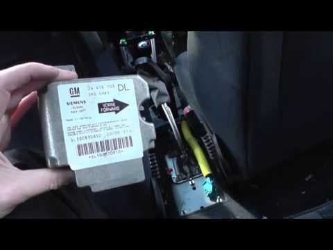 Astra G Mk4 Airbag SRS ECU Module Removal How To