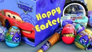 getlinkyoutube.com-Angry Birds Toy Surprise Easter Eggs CARS 2 Holiday Edition Disney Pixar Epic Review by Funtoys