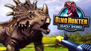 getlinkyoutube.com-O DINOSSAURO MURALHA ME MATOU! - Dino Hunter: Deadly Shores - Ep 15