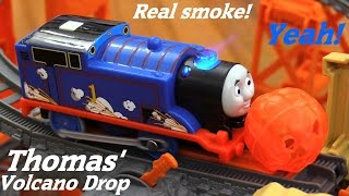 getlinkyoutube.com-Thomas & Friends Trackmaster: Thomas' Volcano Drop Play Set Unboxing & Playtime 2 of 2