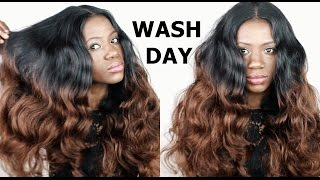 getlinkyoutube.com-How I Wash And Prepare My Natural Hair For Under My Wigs