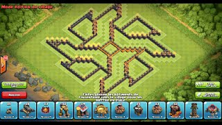 "getlinkyoutube.com-Clash of Clans: New Update 275 walls/murs! Best Original Farming Base ""Shuriken #2"" HDV10/TH10"