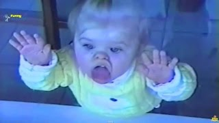 getlinkyoutube.com-Smiješne Bebe Lizanje Stakla Kompilaciju - HD