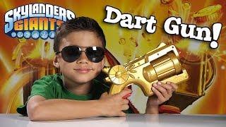 getlinkyoutube.com-Skylanders TRIGGER HAPPY DART BLASTER - Toy Destruction!