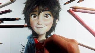 getlinkyoutube.com-Drawing Hiro Hamada (Big Hero 6) - by Ed Coreta