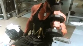 getlinkyoutube.com-Sergi Constance & Philaroze training back and biceps aug 2013
