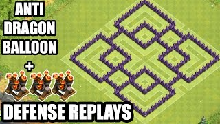 Clash of Clans - TH7 Base For Everything War Base , Farming Base Anti Dragon + DEFENSE REPLAYS