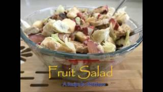 Fruit Salad with thousand Island dressing   Healthy Breakfast