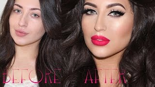 ♡ Wake Up And Get Ready With Me! Soft Matte Glam Makeup Tutorial | Melissa Samways ♡