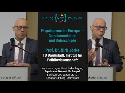 Populismus in Europa- Gemeinsamkeiten und Unterschiede, Vortrag von Prof. Dr. Dirk Jörke