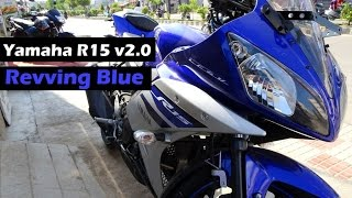 getlinkyoutube.com-Yamaha R15 Revving Blue | Limited Edition | Special Edition Model New Colour | 2016 | India