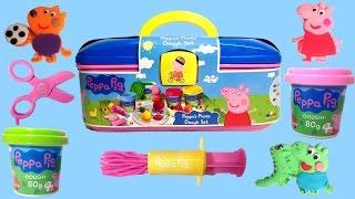 getlinkyoutube.com-Peppa's Picnic Dough Set Peppa Pig Picnic Playset Peppa Pig Play Doh