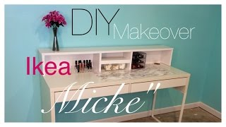 "getlinkyoutube.com-DIY| Ikea ""MICKE Desk"" Makeover"