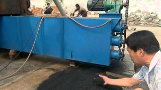 getlinkyoutube.com-How it's made charcoal/ Continuous Carbonization Furnace/ Sawdust/wood/Coconut shell Testing