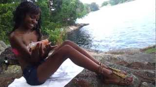 Black Teen in Bikini Outside Behind the Scenes