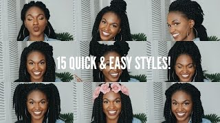getlinkyoutube.com-15 Quick & Easy Crochet Braid Hairstyles!!! (12in) - Tutorial