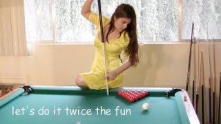 getlinkyoutube.com-Seven trick shots with Mary Avina on Billiard Snooker Pool Table