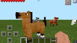 getlinkyoutube.com-CAVALOS NO MCPE !!! - Horses Mod Para Minecraft PE - 0.10.5