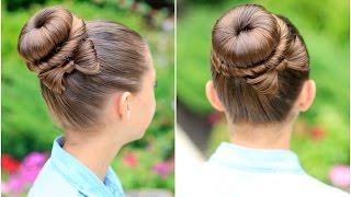 getlinkyoutube.com-How to Create a Bow Bun | Prom Hairstyles