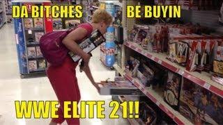 getlinkyoutube.com-WWE ACTION INSIDER: Elite 21 at TOYSRUS!! store figure aisle shopping Mattel wrestling figures