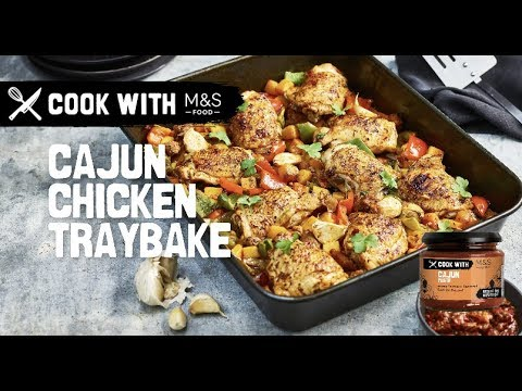 M&S | Cook with M&S... Louisiana Cajun Chicken Traybake