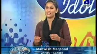 Pakistan Idol audition - Mahwish Maqsood Awesome Voice