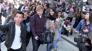 getlinkyoutube.com-EXCLUSIVE: Very nice Ed Sheeran despite getting crushed by Crazy French fans in Paris