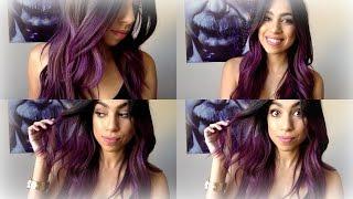 getlinkyoutube.com-Purple  Ombre Hair ! Manic Panic (Purple Haze)