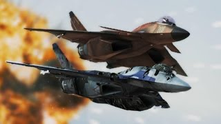 getlinkyoutube.com-Ace Combat Infinity (Mission 7) Area B7R (CFA-44 Nosferatu)
