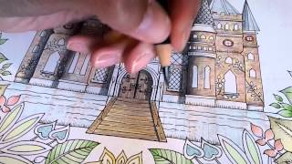 getlinkyoutube.com-Colouring Enchanted Forest - Shading the Castle