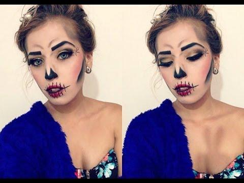 Maquillaje calavera Glam para HALLOWEEN
