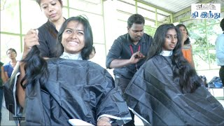 getlinkyoutube.com-WCC Students Hair Donation Campaign for Cancer Patients | Tamil The Hindu